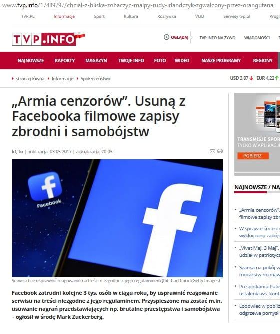 TVP.INFO - nowy artykuł w miejsce orangutana