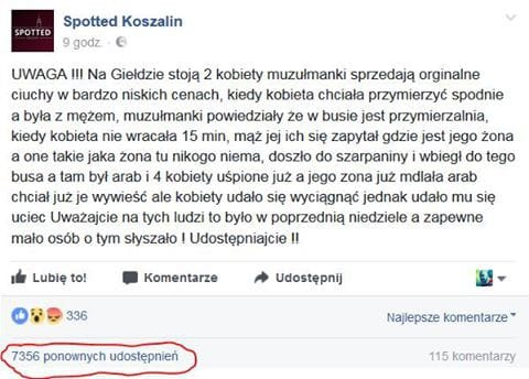 Czy muzułmanie porywają kobiety w Koszalinie?